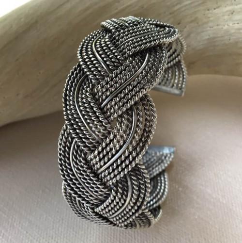 Karen Hill Tribe Silver woven bracelet