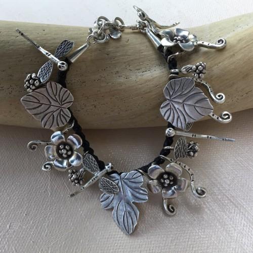 Karen Hill Tribe Silver-Charm Bracelet