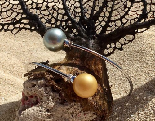 South Sea Pearl Wire Bracelet