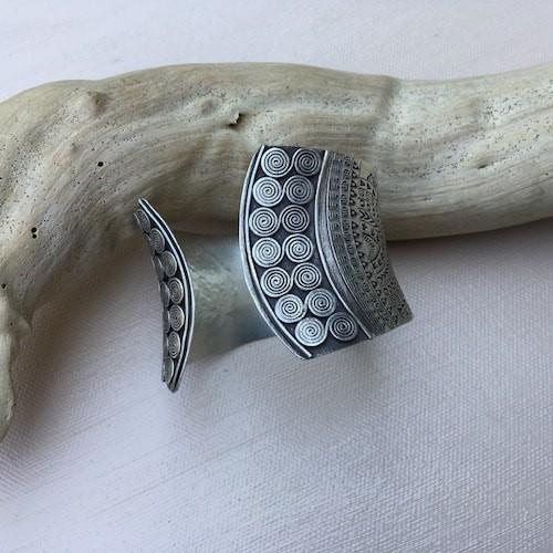 Karen Hill Tribe Silver Cuff Bracelet