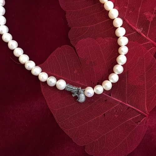 Diamonds, Pearls, Silver, Necklace