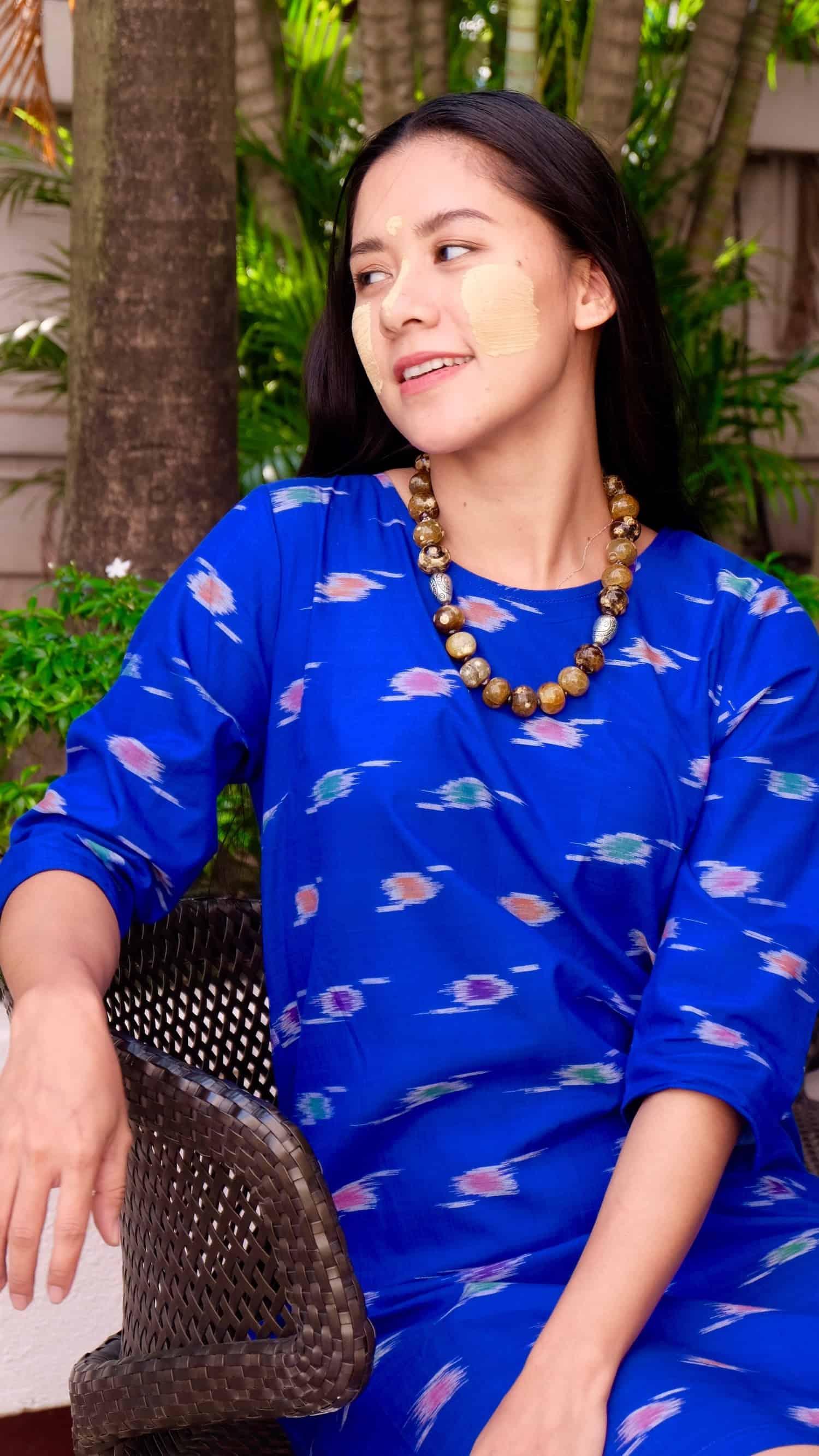 handwoven Burmese ikat; sustainable and eco-friendly