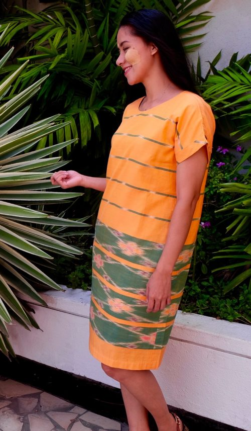 handcrafted Burmese Gardening dress