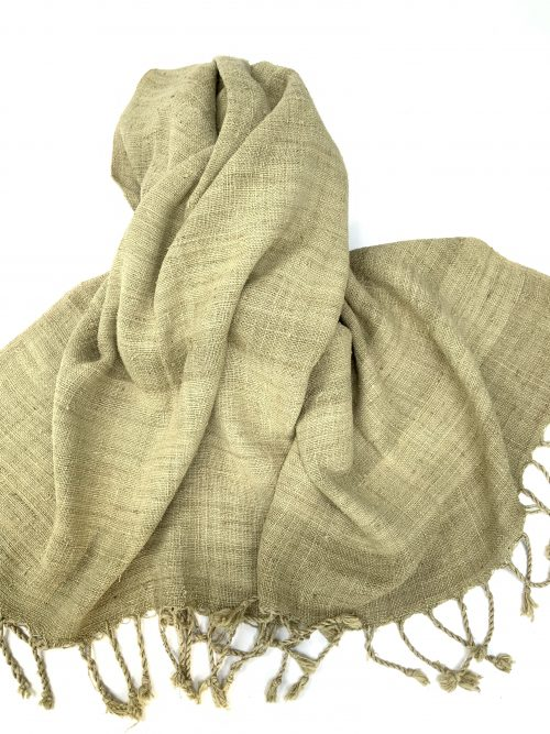 Pure Lotus Fiber Scarf-Almond Leaf Dyed