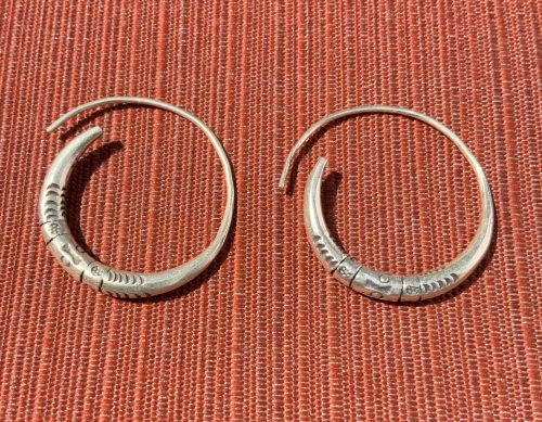 Karen Hill Tribe Silver earrings