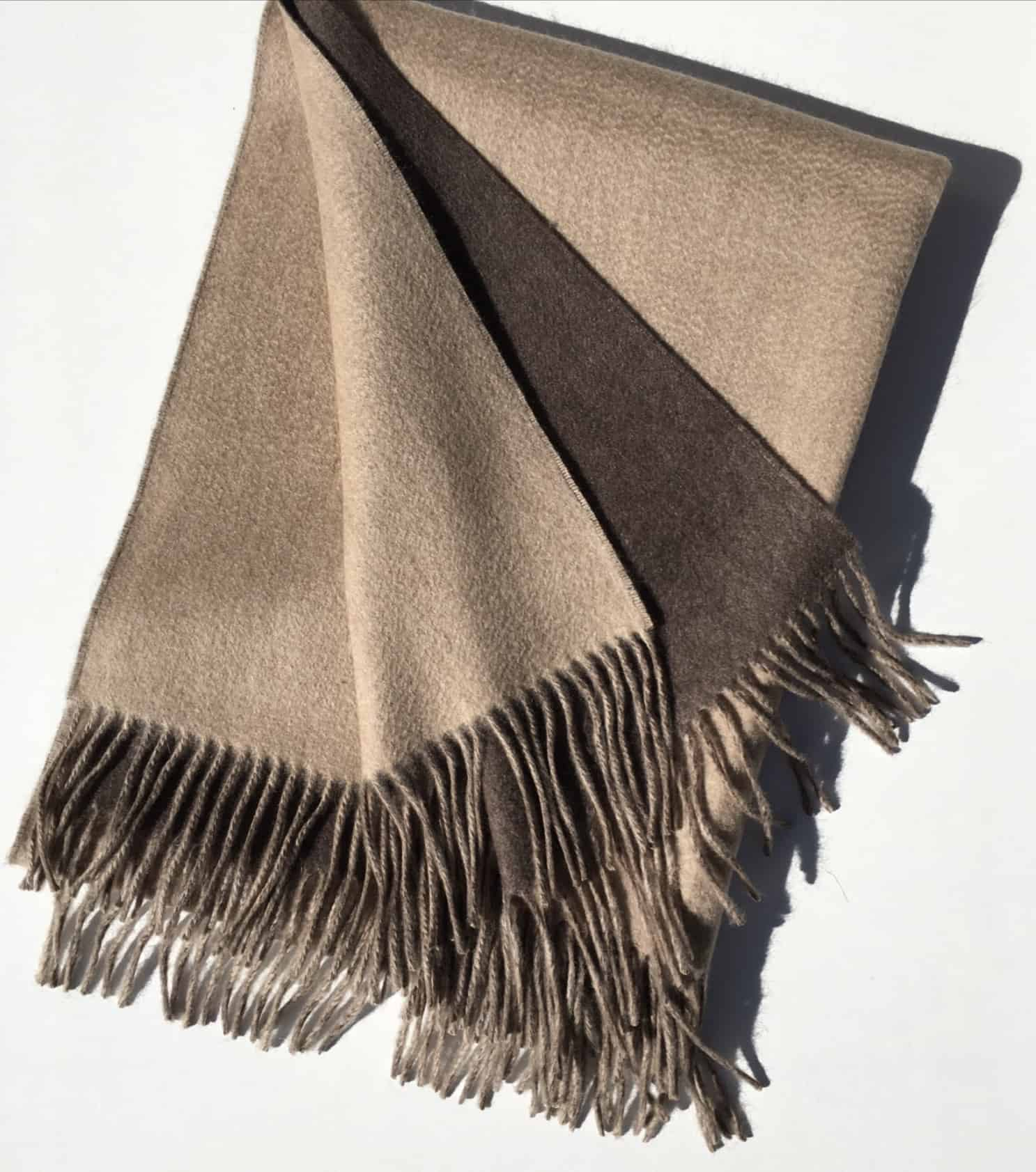 Double Faced Cashmere Throw