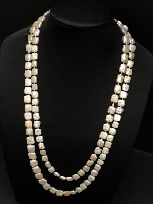 Square Disc Pearls, Opera Length