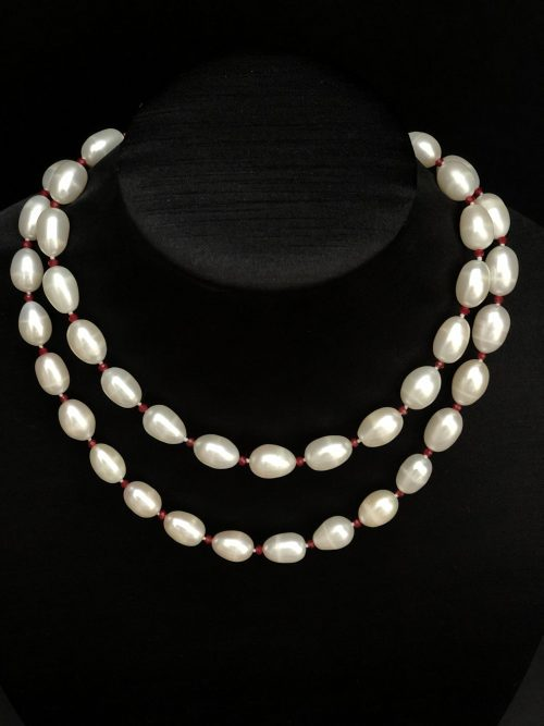 Drop-Shaped Pearl Necklace