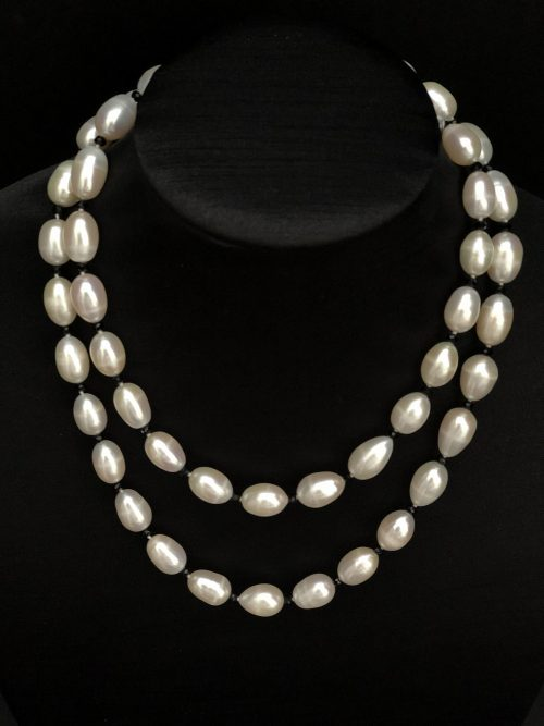 Classic white pearls, by Cashmere and Pearls