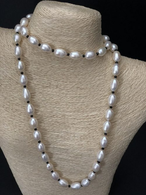 Drop-Shaped Pearl Necklace by Cashmere And Pearls