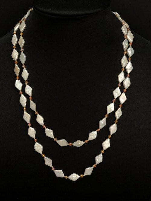 "40"" Diamond-Shaped Pearl Necklace by Cashmere And Pearls"