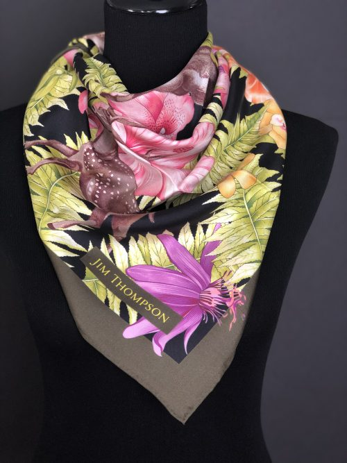 Classic Jim Thompson Thai silk scarf, by Cashmere and Pearls