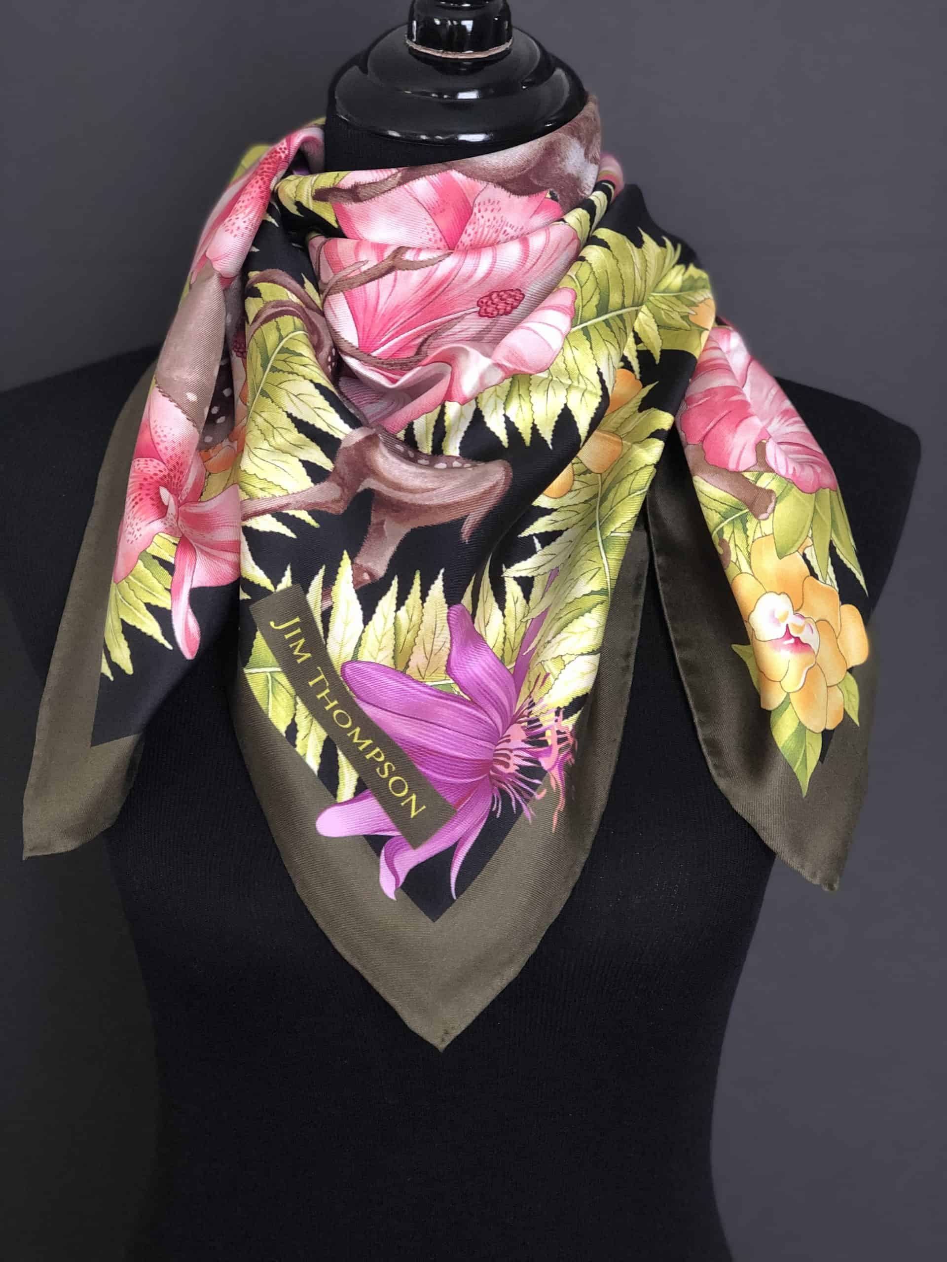 Jim Thompson Silk Scarf, by Cashmere and Pearls