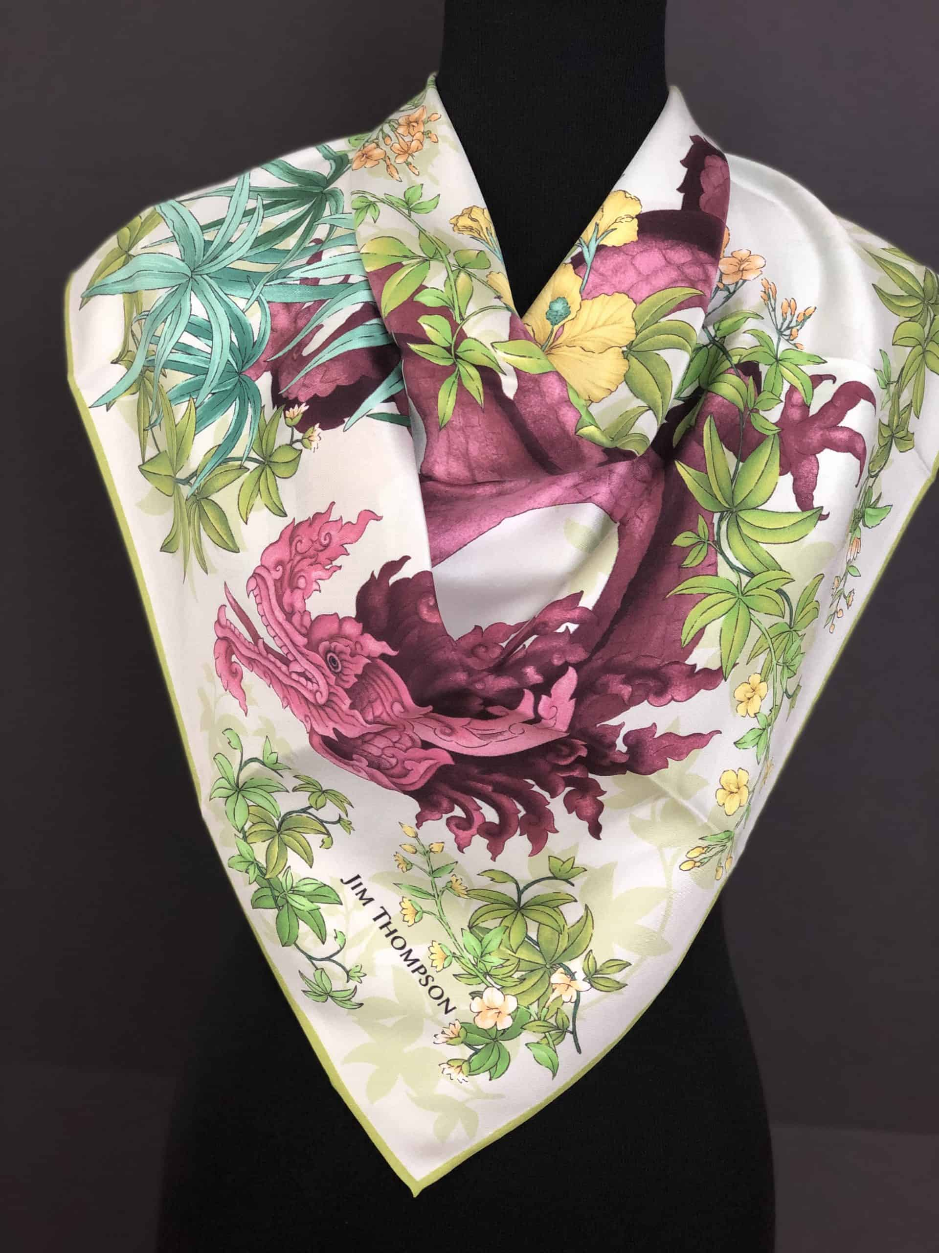 Classic Thai Silk Scarf, by Cashmere and Pearls