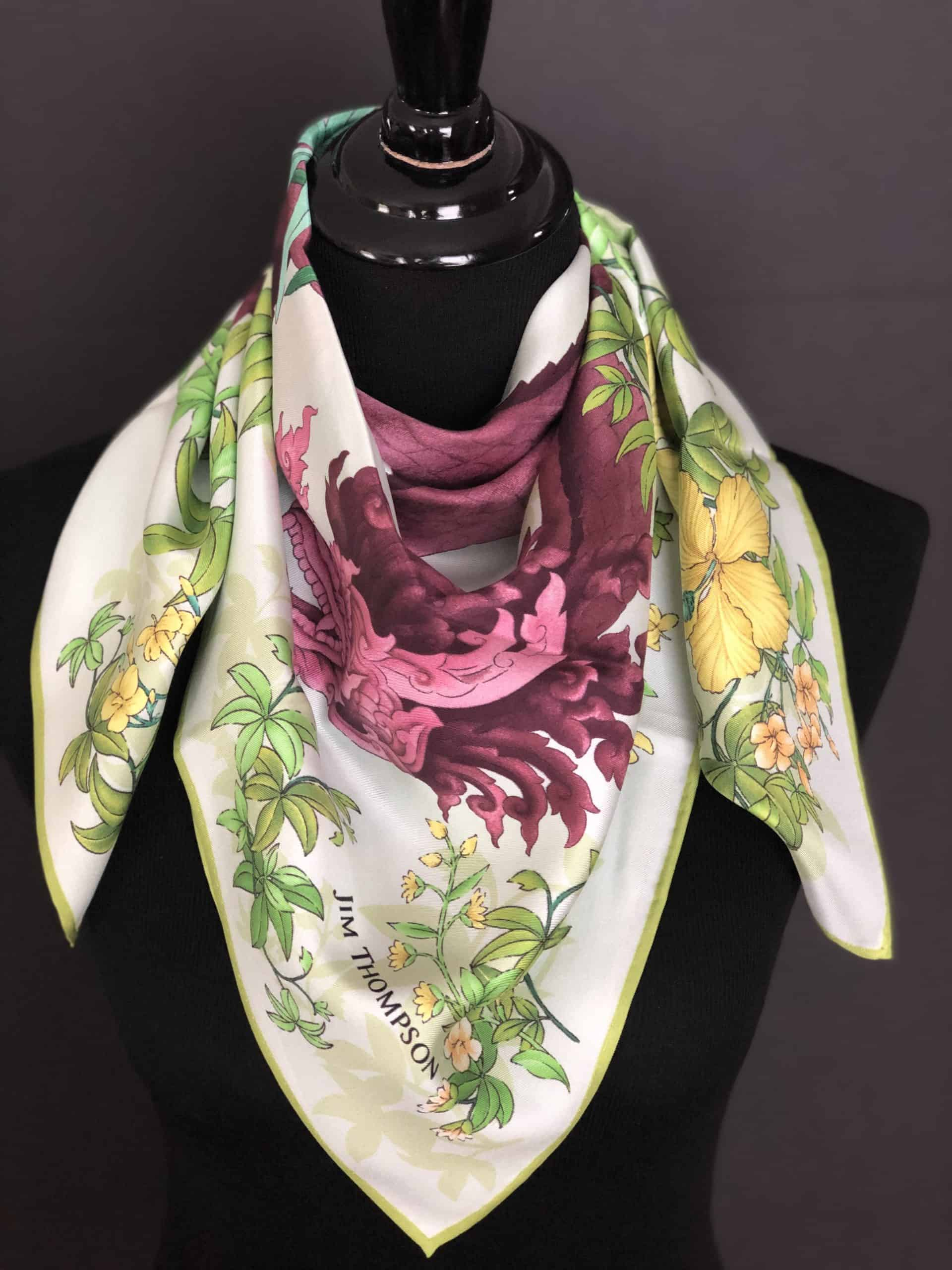 Cashmere and Pearls, Thai Silk Scarves