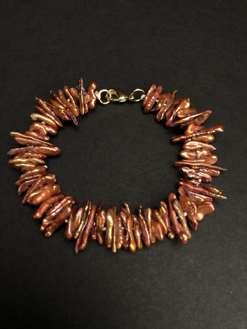 Exotic Keshi pearl bracelet, by Cashmere And Pearls