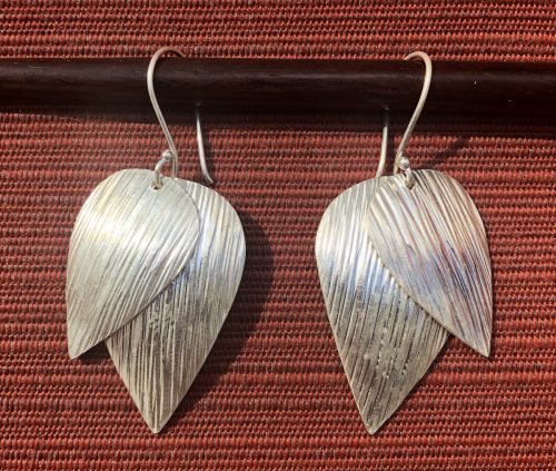 Double Leaf-Hill Tribe Silver Earrings, by Cashmere and Pearls