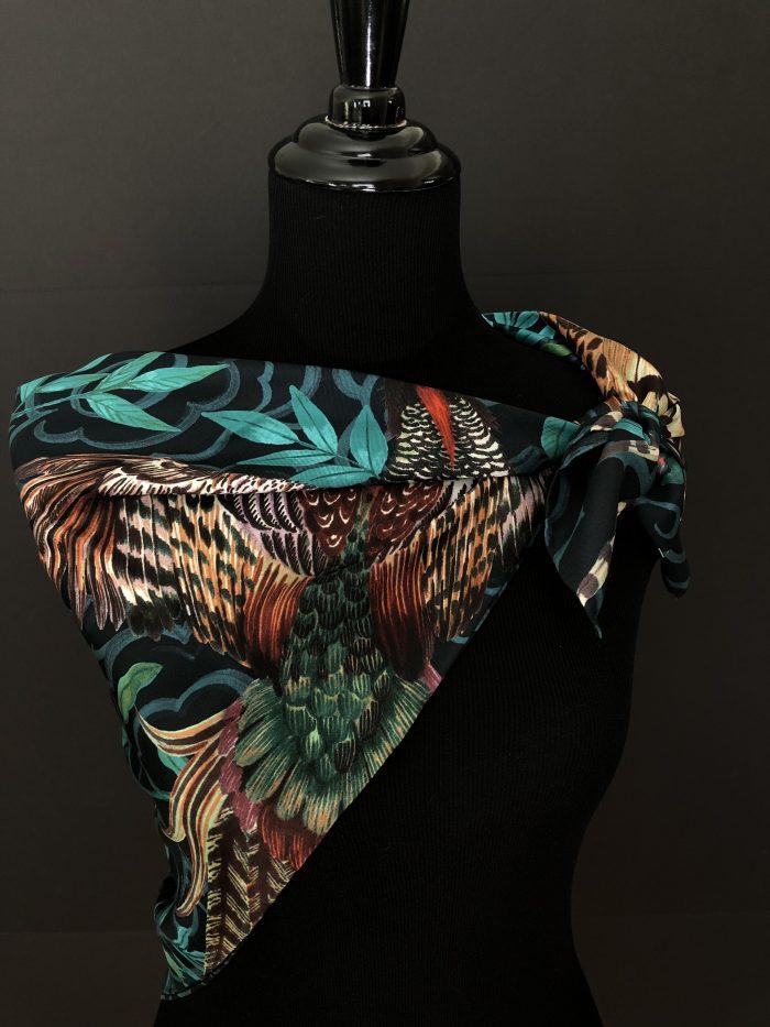 Jim Thompson silk scarf, illustrated by Phannapast T