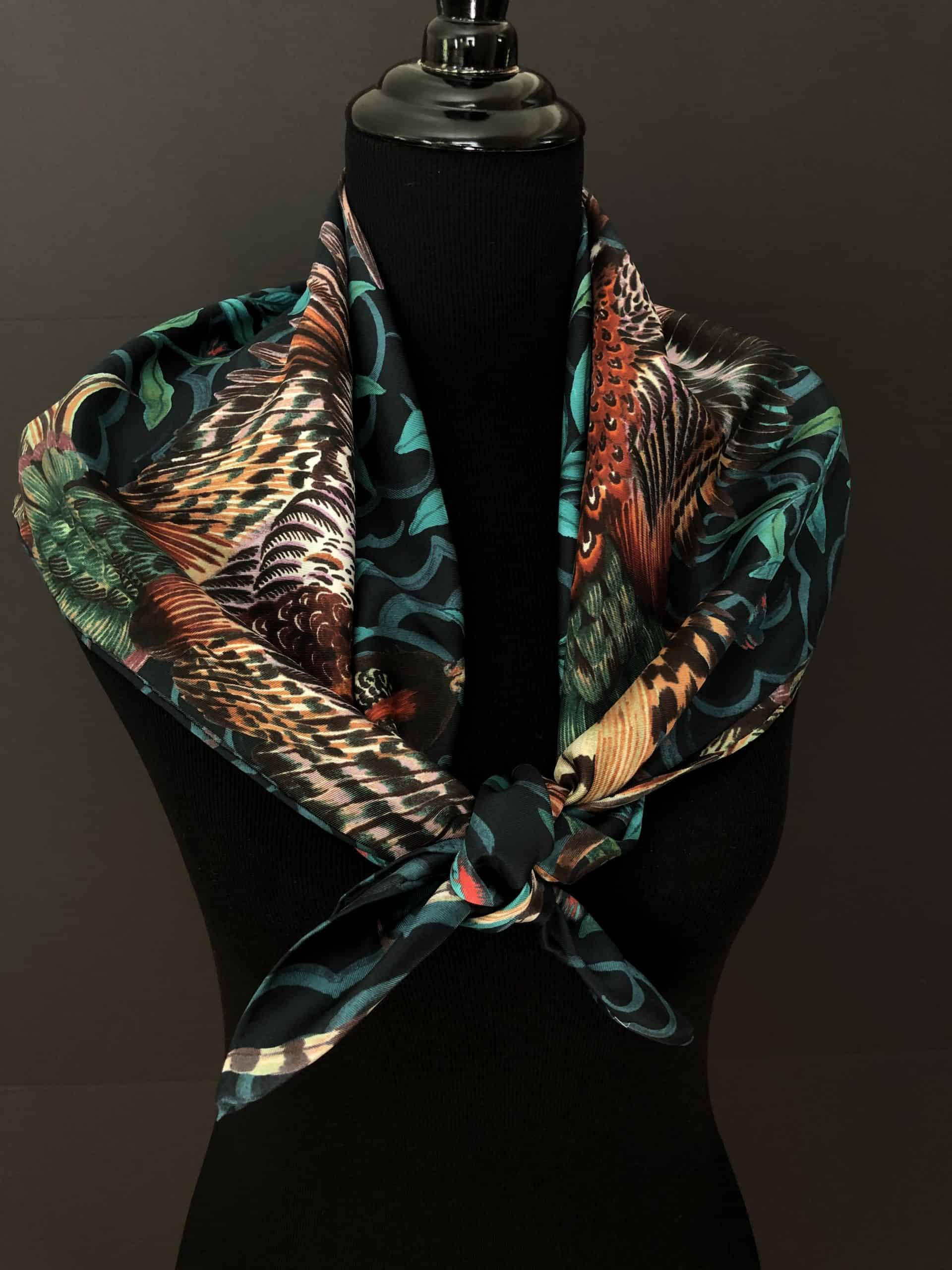 Illustrated by Phannapast T, Silk Scarf