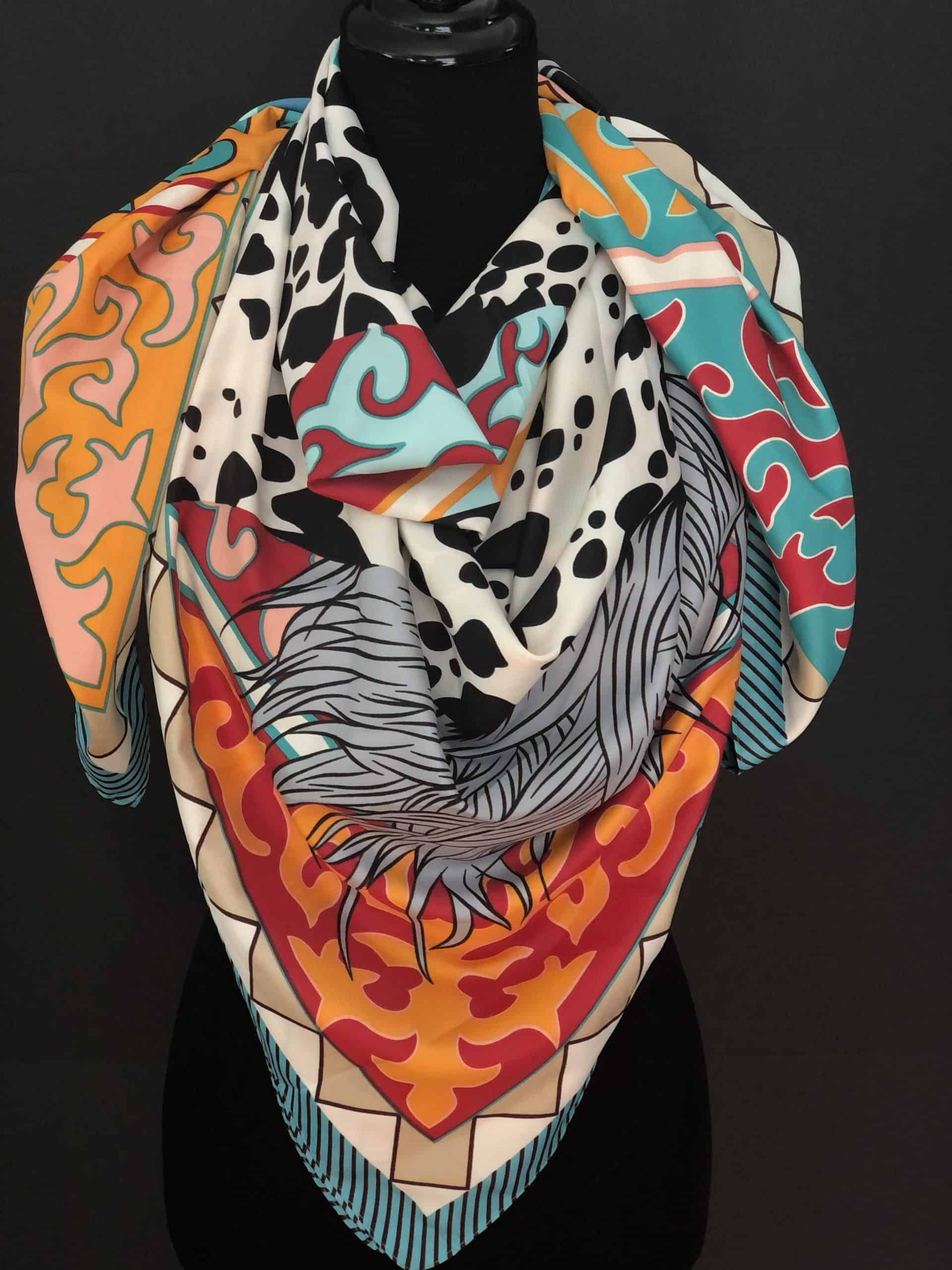 Exclusive Silk Scarves, by Cashmere and Pearls