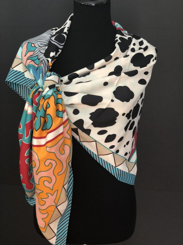 Royal Temptation Silk Scarf, by Cashmere and Pearls