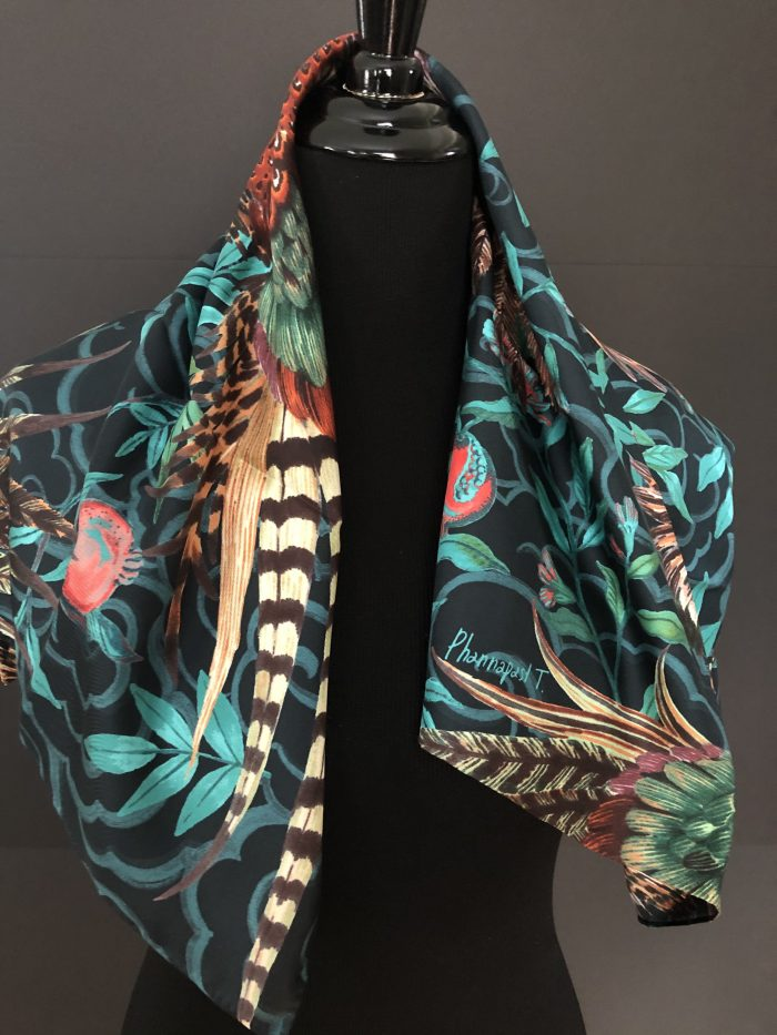 Phannapast designed silk scarf