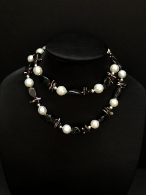 Exotic gemstones and pearls, by Cashmere and Pearls