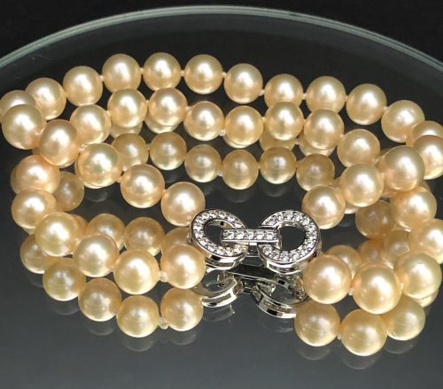 Double Strand Peach Pearl Bracelet, by Cashmere and Pearls